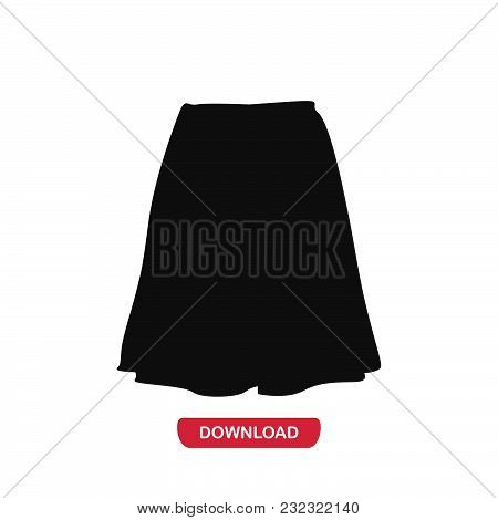 Skirt Icon Vector In Modern Flat Style For Web, Graphic And Mobile Design. Skirt Icon Vector Isolate