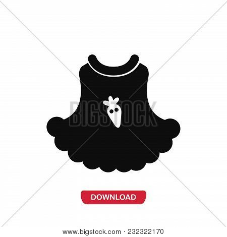 Baby Dress Icon Vector In Modern Flat Style For Web, Graphic And Mobile Design. Baby Dress Icon Vect