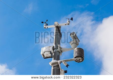Automatic Weather Station, With A Weather Monitoring System And Video Cameras For Observation. Again