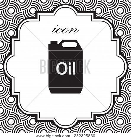 Vector Icon Jerrycan Oil On A Geometric Background Of Eps