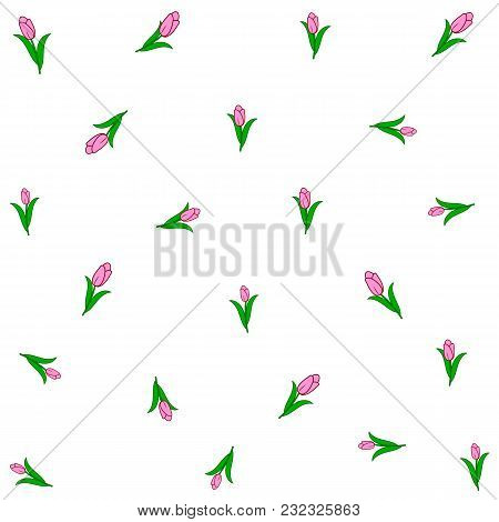 Background Of Tulips. Vector Illustration For Your Design.