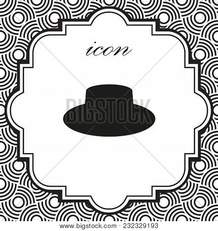 Vector Icon Cap On A Geometric Background Of Eps