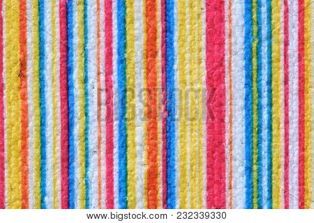 Striped Beach Towel Useful As A Background Pattern Close Up