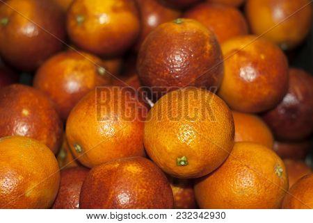 Background - Bright Blood Oranges Close Up