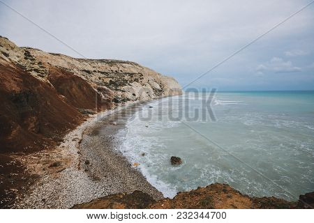 Sea With Different Shades Of Blue In Crete, Greece
