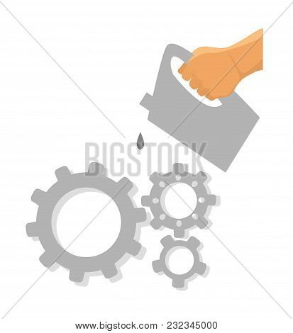 Service Tool Icon. Car Service Vector. Lubrication Mechanism