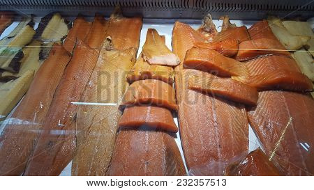 Fresh Fish Being Sold At The Local Market