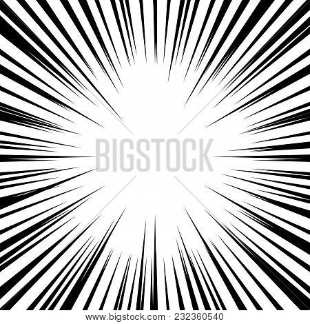 Abstract Background With Retro Sun Rays. Vector