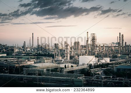 Background For Business Of Petroleum Industrial Estate, Petrochemical Plant, Oil And Gas Refinery Pl