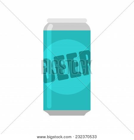 Bank Of Beer Isolated. Aluminum Can Of Alcohol.