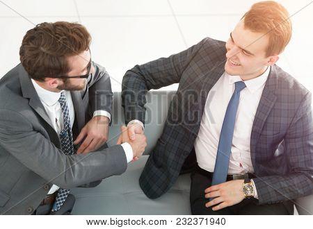 close-up. handshake financial partners