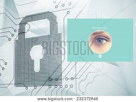Digital composite of Identity Verify security App Interface