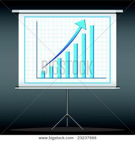 bar graph on flex screen