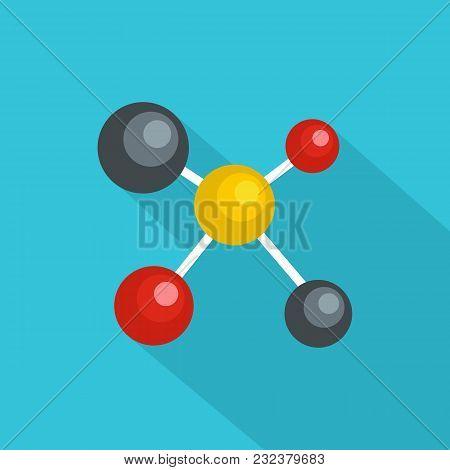 Atom Lattice Icon. Flat Illustration Of Atom Lattice Vector Icon For Web