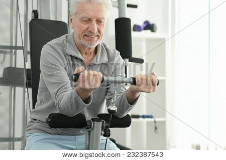Mature Man At The Gym, Sport Concept