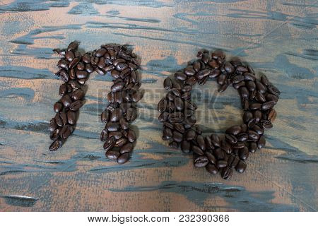No Spelled Out On Wood With Coffee Beans As A Sign