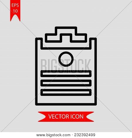 Application Form Icon Vector In Modern Flat Style For Web, Graphic And Mobile Design. Application Fo