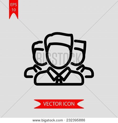 Team Icon Vector In Modern Flat Style For Web, Graphic And Mobile Design. Team Icon Vector Isolated