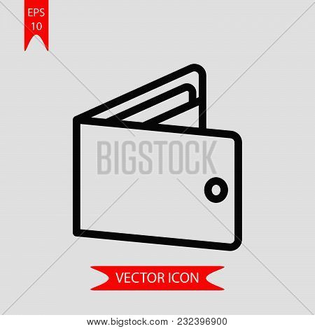 Wallet Icon Vector In Modern Flat Style For Web, Graphic And Mobile Design. Wallet Icon Vector Isola
