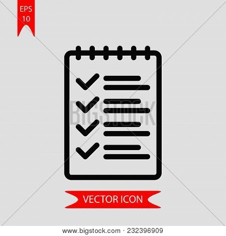 List Icon Vector In Modern Flat Style For Web, Graphic And Mobile Design. List Icon Vector Isolated