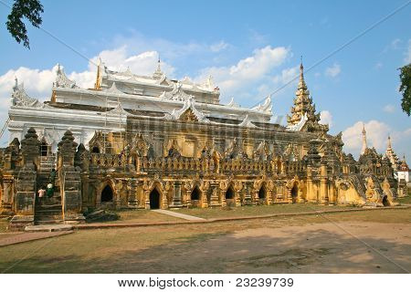 Monastry Maha Aungmye Bonzan In Ava (innwa) - The Ancient Capital Of Myanmar (burma).