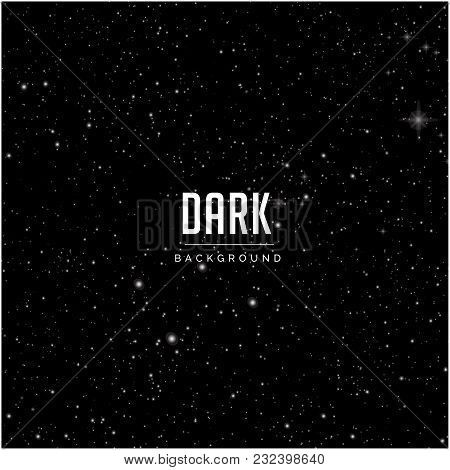 Sky With Bright Star Pattern Dark Background Vector Image