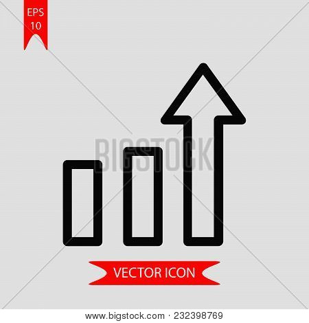 Growth Icon Vector In Modern Flat Style For Web, Graphic And Mobile Design. Growth Icon Vector Isola