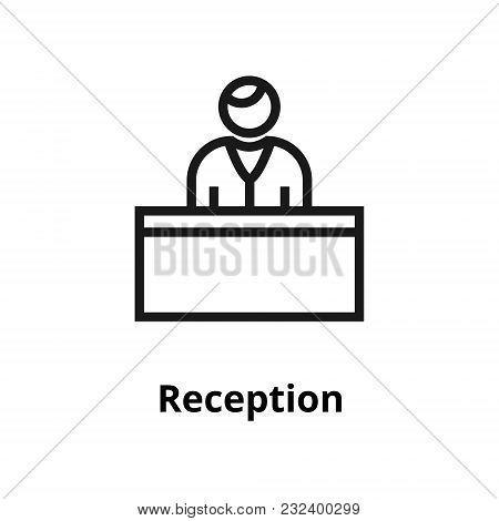Reception Thin Line Icon. Icons For Web And User Interface