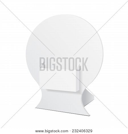 Pos Poi Cardboard Blank Empty Show Box Holder For Advertising Fliers, Leaflets Or Products On White