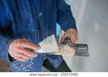 Working With The Plaster Hand Of The Master