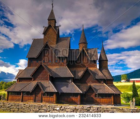 Heddal Stave Church, Norways Largest Stave Church, Notodden Municipality, Norway