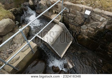 Micro Hydro-electric Water Intake Apparatus With Filter, Pipe And Cable Sensor.