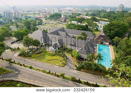 Kuching, Malaysia - August 26, 2009: View To The Buildings Of The City From The Viewpoint Of The Tv