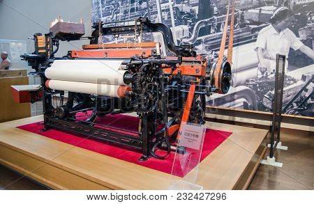 Nagoya, Japan - July 3, 2015: The Type G First Loom Intoyota Commemorative Museum Of Industry And Te