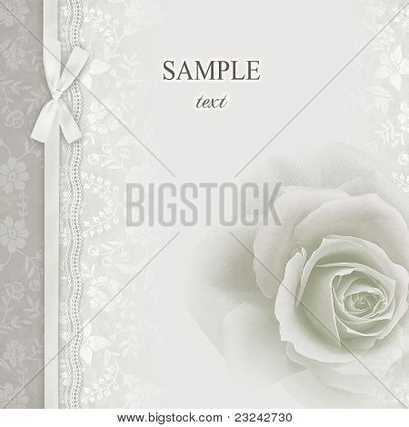 Wedding invitation, frame flowers