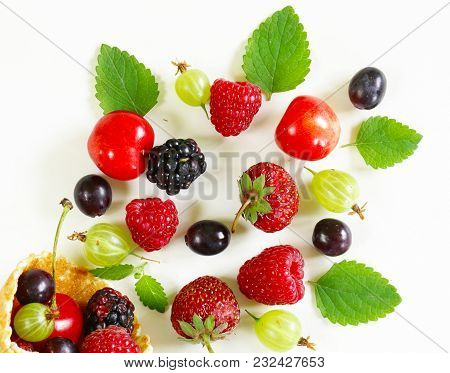 Mix Fresh Organic Berries Sweet Healthy Food