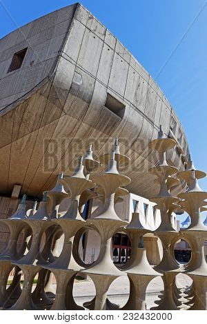 Lyon, France, March 22, 2018 : Auditorium Maurice-ravel In La Part-dieu. The District Is The Central
