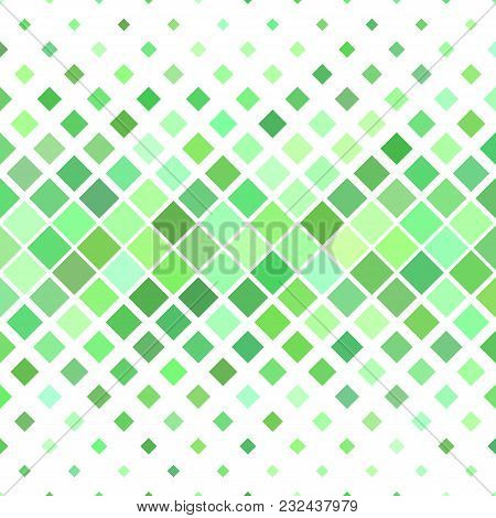 Green Abstract Square Pattern Background - Geometric Vector Illustration From Diagonal Squares In Li