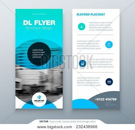 Dl Flyer Design Blue Vector Photo Free Trial Bigstock