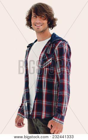 stylish guy in a plaid shirt.