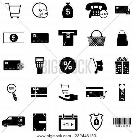 The Economy Silhouette Vector Of Icon Set