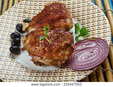 Frango Assado - Brazilian Dish, Fry Chicken , Close Up