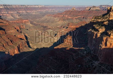 The Scenic Landscape Of The Grand Canyon From The North Rim