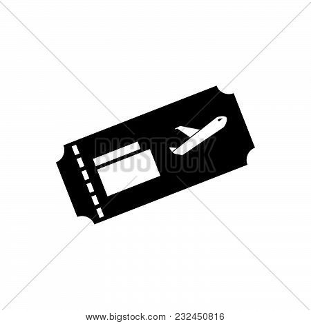 Flight Ticket Vector Icon On White Background Modern For Graphic And Web Design Sign Logo Website App Ui