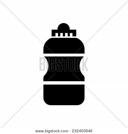 Water Bottle Vector Icon On White Background. Water Bottle Modern Icon For Graphic And Web Design. W