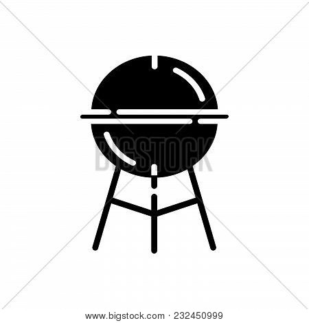 Grill Vector Icon On White Background. Grill Modern Icon For Graphic And Web Design. Grill Icon Sign