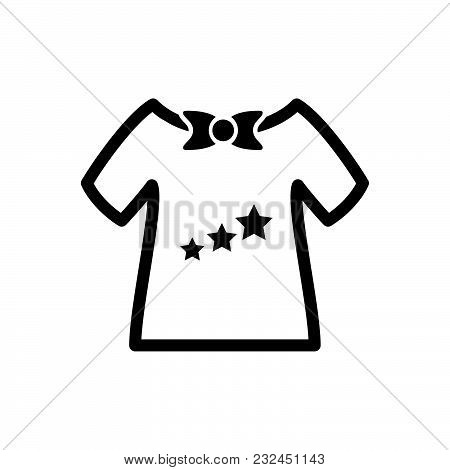 Baby Shirt Vector Icon On White Background. Baby Shirt Modern Icon For Graphic And Web Design. Baby