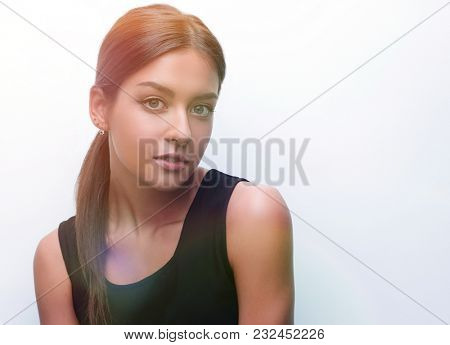 Portrait of a cute young woman