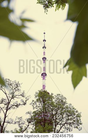 Television Tower, Tv Tower Near The Metro Station Dorogozhychi, Kiev, Kyiv, Ukraine