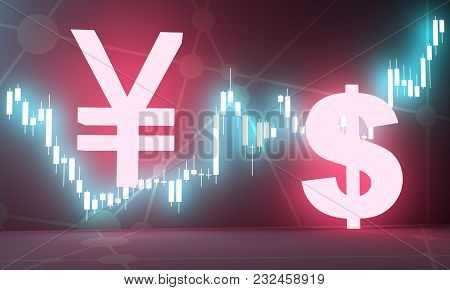 Forex Candlestick Pattern. Trading Chart Concept. Financial Market Chart. Currency Pair. Japanese Ye